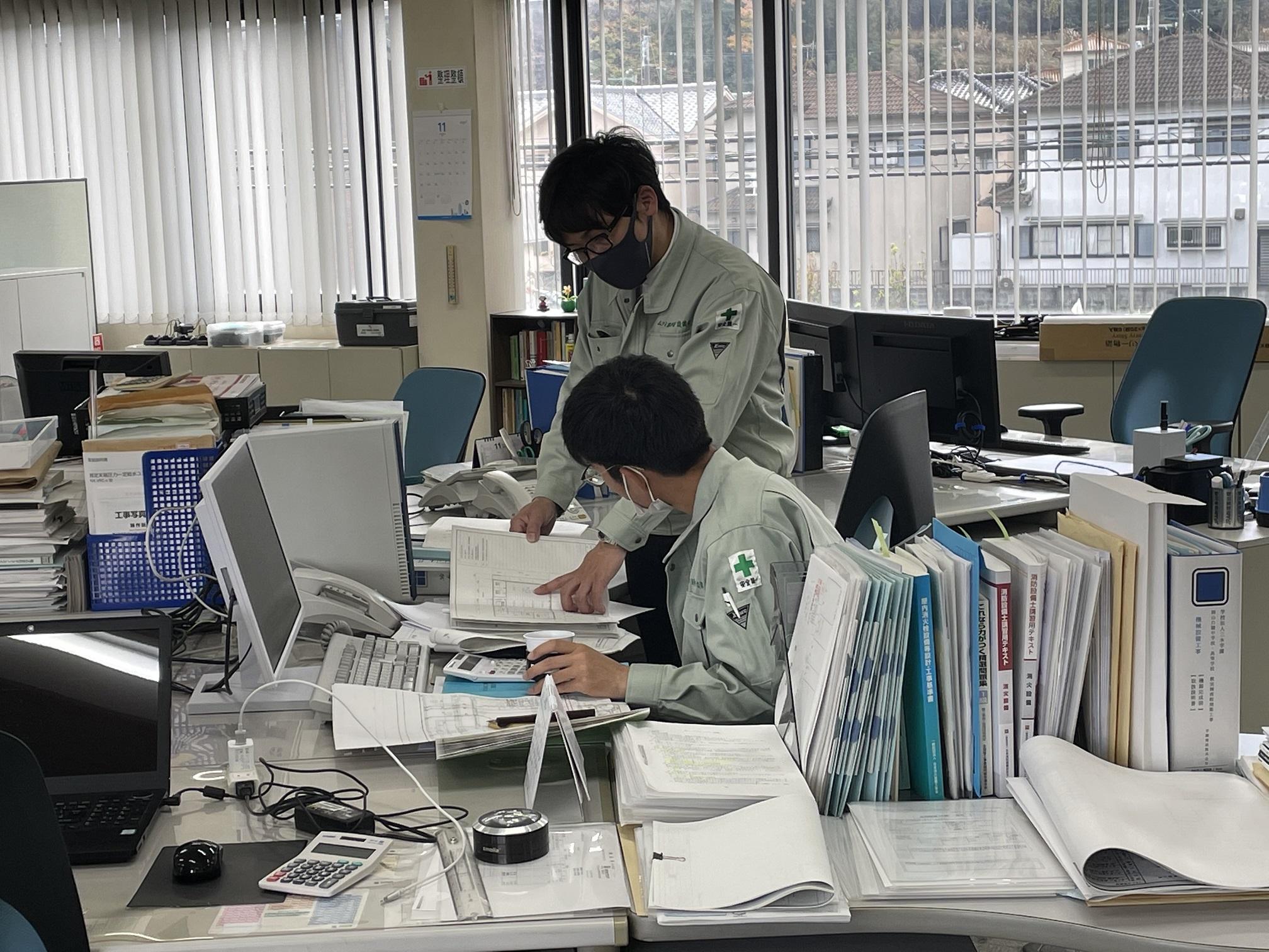 【技術職】機械設備工事のおける施工図面の作成ならびに施工管理。(新卒者対象)イメージ